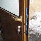 Porta alluminio effetto legno di servizio apertura esterna [04]