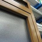 Porta alluminio effetto legno di servizio apertura esterna [06]
