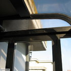 Veranda in alluminio ossidato nero, tetto curvo in policarbonato a doppia parete [2]