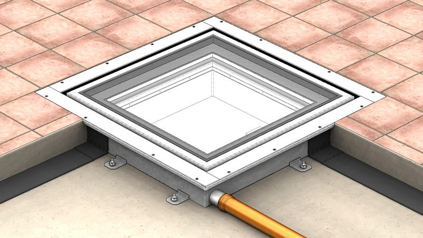 Floor Window lucernario calpestabile filo pavimento motorizzato