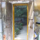 Porta d'ingresso in alluminio giallo ocra [2]
