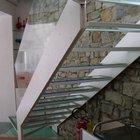 Ballatoio e scala in acciaio e vetro strutturale [5]