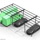 Struttura per tettoia auto