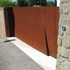 Cancello moderno a 2 ante in acciaio corten [4]