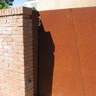 Cancello moderno a 2 ante in acciaio corten [6]