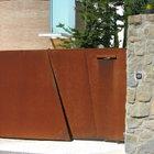 Cancello moderno a 2 ante in acciaio corten [5]