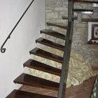 Scala rustica a ventaglio in ferro e legno [2]