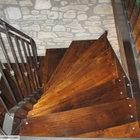Scala rustica a ventaglio in ferro e legno [1]
