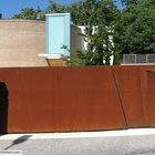 Cancello moderno a 2 ante in acciaio corten [4a]