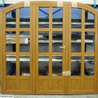 Porta in alluminio effetto legno centinata